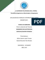 Aplicacion de Fusibles e Interruptores Termomagneticos