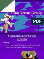 Group vs Teams Formulation of group