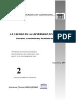 La Calidad en La Universidad Ecuatoriana