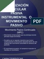 4.2 Movilización articular pasiva instrumental