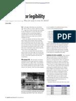 Designing for Legibility