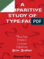 Type Comparison Booklet Print