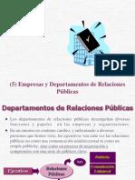 (5) Empresas y Departamentos de Relaciones Públicas MB