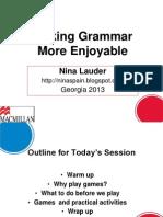 Grammar Games - MACMILLAN GEORGIA 2013.ppt
