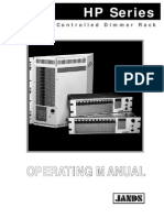 HP Series Digitally Controlled Dimmer Rack Operating Manual
