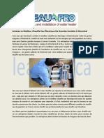 Acheter Chauffe-Eau Électrique - L'eau Pro