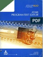 CO60029 Atari Program-Text Editor 1981