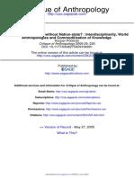 C_interdisciplinaridade Antropologias Do Mundo e Comoditizacao Do Conhecimento