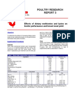 Ajinomoto P Effect of Ietary Methinine and Lysine on Broiler Perf