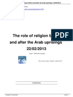 130311The Role of Religion Before and After Arab Uprisings