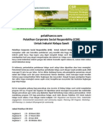 Pelatihan Corporate Social Responbility (CSR) Kelapa Sawit