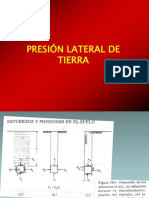 presión lateral de suelo