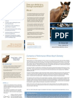 Performance Equine Dentistry Brochure