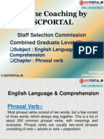 SSC CGL English Language Phrasal Verb