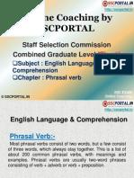 SSC CGL English Language Phrasal Verb