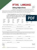 Adding Adjectives 2 Worksheet