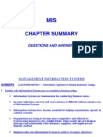 Mis Summary Review