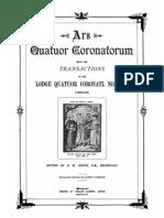 Ars Quatuor Coronatorum Vol 01-21 Yarker J