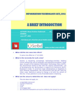 Information Technology Act, 2002 INDIA Introduction VRK100 24062004