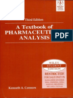 Textbook of Pharmaceutical Analysis by Kenneth a. Connors