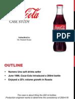 Coca Cola business statistics case