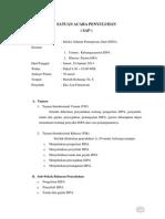Satuan Acara Penyuluhan (SAP) ISPA