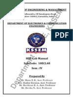 HDL Lab Manual for VTU Syllabus (10ECL48)