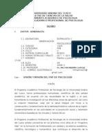 Entrevista y Observacion Psicologica 2009-II
