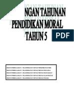 Rancangan Tahunan Tahun 5 Pendidikan Moral