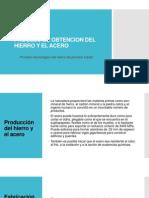 1.1 Proceso Tecnológico de hierro de primera fusion