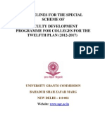 Guidelines for the Special Scheme of Faculty Development Programme for Colleges for the Twelfth Plan (2012-2017)