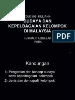 1 Budaya Dan Kepelbagaian Kelompok Di Malaysia