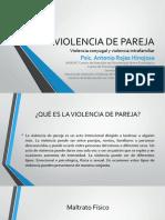 Psic.Antonio Rojas Hinojosa-Violencia de Pareja