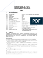 Atencion e Intervencion Temprana 2009-II
