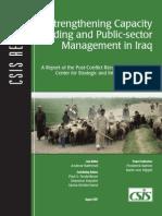 Strengthening Capacity in Iraq