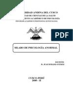 PSICOLOGIA ANORMAL 2009-II