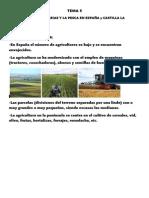 TEMA 5 LAS ACTIVIDADES AGRARIAS Y LA PESCA EN ESPAÑAY CLM