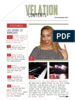 Music Magazine Contents Page - 1st Draft