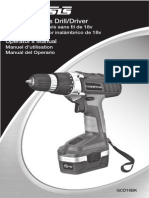 Genesis 18V Drill-Driver GCD18BK2 Manual