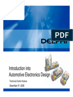 Introduction Into Automotive Electronics Design