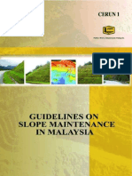 Guidelines of slope maintenence in Malaysia
