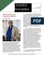 Esswe Newsletter Fall 2013