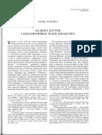 """J. Purchla. """"Hubert Ritter i hitlerowskie wizje Krakowa"""" cz. 1"""