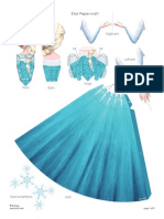Disney Frozen Elsa Papercraft Craft Printable 0913 (1)