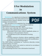 Need for Modulation in Communications System
