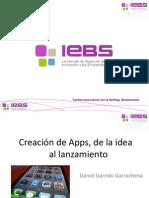 """Webinar """"Creación de Apps, de la idea al lanzamiento"""""""