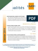 UNADFI Actualités de janvier 2014