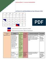 Calendarul Fiscal FEBRUARIE 2014