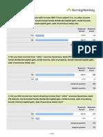 IncomeTax Survey Summary