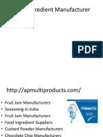 Food Ingredient Manufacturer